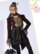 le gilet sera dans la couleur de contraste et la veste sera en velour. Il y aura une queue de pie derrière qui passera sous le noeud de la jupe et descendra en dessous bien entendu.
