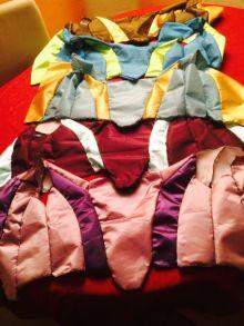 Les 5 corsages (y compris celui de ma collègue Dani